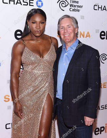 Serena Williams and Mark Greenberg