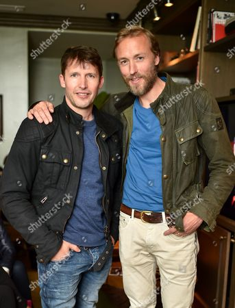 James Blunt and Sam Pelly
