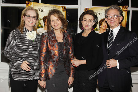 Meryl Streep, Renee Fleming, Mercedes Bass and William Ivey Long