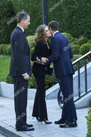 King Felipe VI of Spain, Queen Letizia, US Ambassador to Spain James Costos