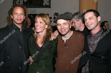 Director Jonathan Wyche and his wife producer Jena Wyche, with actors Clint Howard and Gabriel Damon