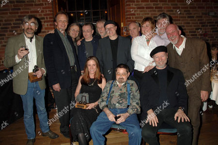 John Tams, Joe Boyd, Chris Leslie, Dave Mattacks, Gerry Conway, Ric Sanders, Ashley Hutchings, Chris While, Simon Nicol, Dave Pegg - front Georgia Lucas, Dave Swarbrick, Richard Thompson