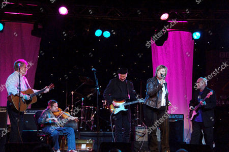 Stock Picture of Fairport Convention - Simon Nicol, Dave Swabrick, Richard Thompson, Chris While and Ashley Hutchings