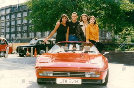 Tv Programme: Men And Motors. Picture Shows: Jenny Powell Ginny Buckley Diane Youngale And Vinnie Jones. Box 654 111121512 A.jpg.