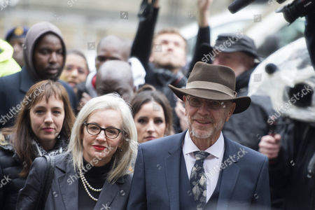 Stock Image of Arnold Pistorius and Lois Pistorius arrive at North Gauteng High Court for his client's sentencing proceedings in Pretoria, South Africa