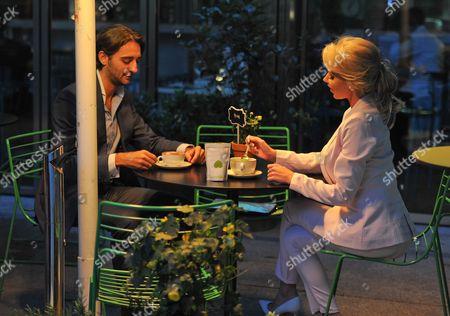 Hannah Elizabeth and boyfriend George at Roka