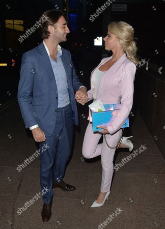 Stock Picture of Hannah Elizabeth and boyfriend George at Roka