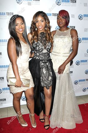 Stock Image of Damoli Harris, Kourtney Lenton and Melanee Felton of DMK