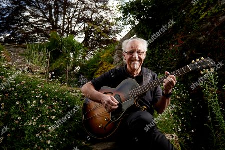 Yealmpton United Kingdom - September 17: Portrait Of English Musician Martin Barre Best Known As A Guitarist With Progressive Rock Group Jethro Tull Photographed At His Home In Devon On September 17