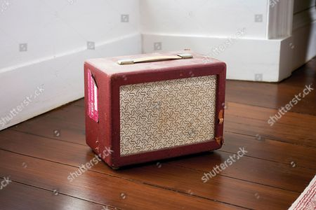 Yealmpton United Kingdom - September 17: A Vintage Amplifier Belonging To English Musician Martin Barre Best Known As A Guitarist With Progressive Rock Group Jethro Tull Photographed At His Home In Devon On September 17