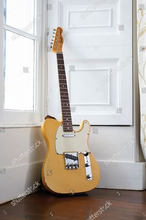 Yealmpton United Kingdom - September 17: A Vintage 1969 Fender Telecaster Electric Guitar Belonging To English Musician Martin Barre Best Known As A Guitarist With Progressive Rock Group Jethro Tull Photographed At His Home In Devon On September 17
