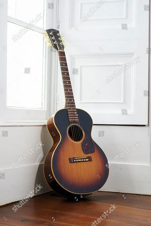 Yealmpton United Kingdom - September 17: A Vintage 1950s Gibson Lg Acoustic Guitar Belonging To English Musician Martin Barre Best Known As A Guitarist With Progressive Rock Group Jethro Tull Photographed At His Home In Devon On September 17