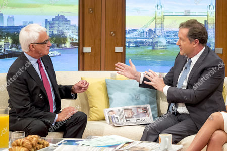 Alistair Darling and Piers Morgan