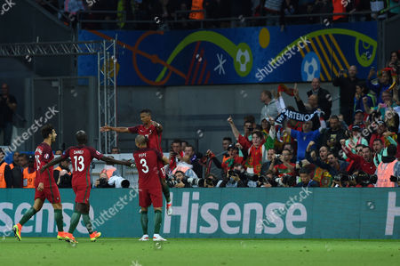 Stock Picture of Nani Luis Carlos Almeida da Cunha (Portugal); Joy Goal 1-0 ;