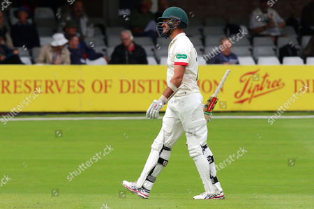 Clint McKay of Leicestershire leaves the field having been dismissed for 4 during Essex CCC vs Leicestershire CCC, Specsavers County Championship Division 2 Cricket at the Essex County Ground on 21st June 2016