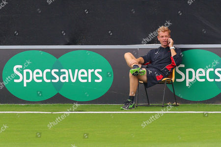 Leicestershire Elite Performance Director Andrew McDonald looks on from the boundary during Essex CCC vs Leicestershire CCC, Specsavers County Championship Division 2 Cricket at the Essex County Ground on 22nd June 2016