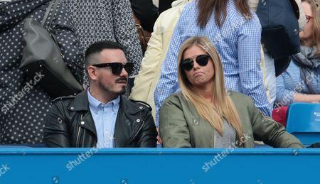 Milos Raonic Girlfriend Danielle Knudson during ATP/WTA Tennis World Tour 2016 AEGON Championships Day Four at Queens Club, London, United Kingdom - 16 Jun 2016