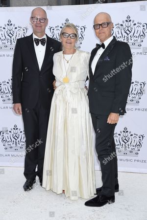 Marie Ledin with her brother Lasse and Anders Andersson