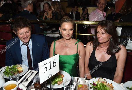 Nikolai von Bismarck, Kate Moss and Tricia Ronane