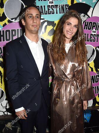 Stock Image of Alex Dellal and Elisa Sednaoui