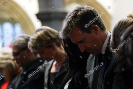 Stock Photo of Labour MPs (L-R) Yvette Cooper and Dan Jarvis at a vigil in St Peters Church in the town of Birstall, West Yorkshire, where Labour MP Jo Cox was shot and killed earlier today. Jo Cox was holding her weekly advice surgery at the time of the attack in her constituency of Batley and Spen in West Yorkshire.