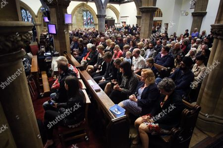Stock Picture of Labour MPs (L-R) Yvette Cooper, Naz Shah, Dan Jarvis, Rachel Reeves and Mary Creagh at a vigil in St Peters Church in the town of Birstall, West Yorkshire, where Labour MP Jo Cox was shot and killed earlier today. Jo Cox was holding her weekly advice surgery at the time of the attack in her constituency of Batley and Spen in West Yorkshire.