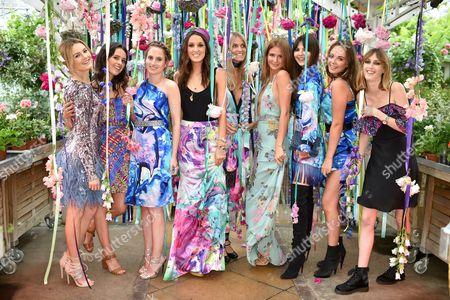 Niomi Smart, Venetia Falconer, Rosie Fortescue, Rosanna Falconer, Georgie MacIntyre, Millie Mackintosh, Doina Ciobanu, Lady Eliza Manners and Lady Alice Manners