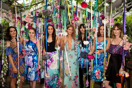 Venetia Falconer, Rosie Fortescue, Rosanna Falconer, Millie Mackintosh, Doina Ciobanu, Lady Eliza Manners and Lady Alice Manners