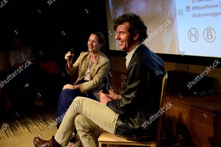 Paola Antonielli and Stefan Sagmeister Q&A at the Art Directors Club 'The Happy Film' screening at NeueHouse Madison Square, New York, June 16.