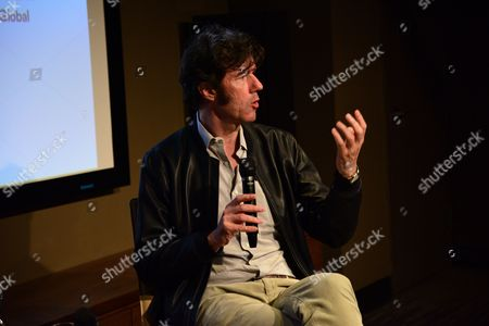 Stock Picture of Stefan Sagmeister Q&A at the Art Directors Club 'The Happy Film' screening at NeueHouse Madison Square, New York, June 16.