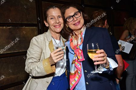 Paola Antonelli and Lisa Gabor attending the Art Directors Club 'The Happy Film' screening at NeueHouse Madison Square, New York, June 16.