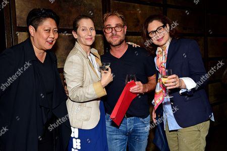 Noreen Morioka, Paola Antonelli, Philippe Meunier, Lisa Gabor attending the Art Directors Club 'The Happy Film' screening at NeueHouse Madison Square, New York, June 16.