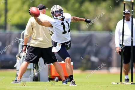 New Orleans Saints wide receiver Reggie Bell makes a one handed catch during the New Orleans Saints mini camp held at the New Orleans Saints Training Facility in Metairie Louisiana