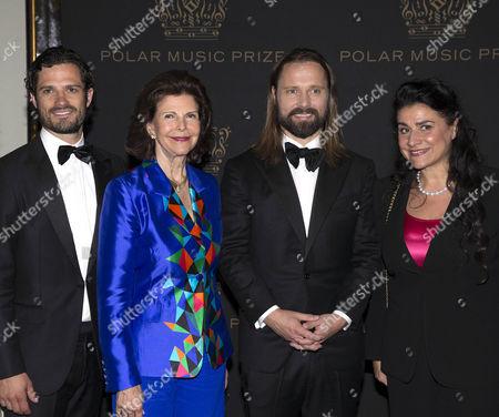 Prince Carl Philip, Queen Silvia, Max Martin and Cecilia Bartoli