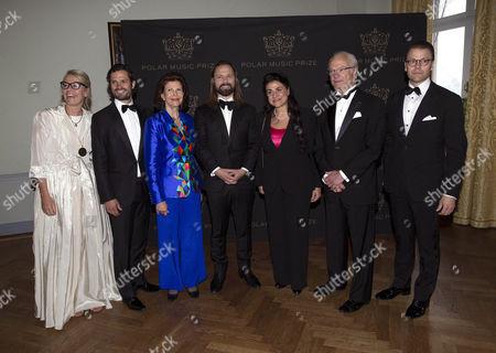 Marie Ledin, Prince Carl Philip, Queen Silvia, Max Martin, Cecilia Bartoli, King Carl Gustaf, Prince Daniel
