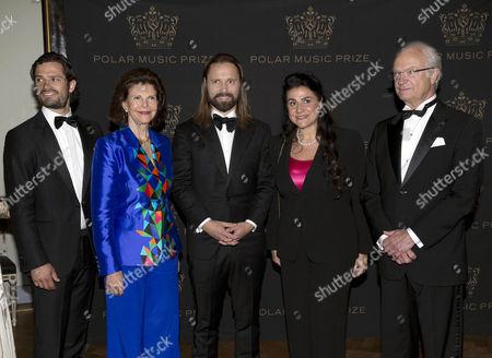 Prince Carl Philip, Queen Silvia, Max Martin, Cecilia Bartoli, King Carl Gustaf