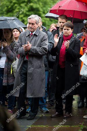 Iain Gray and Ruth Davidson at the vigil