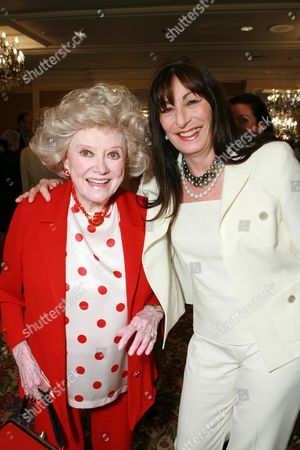 Phyllis Diller and Anjelica Huston