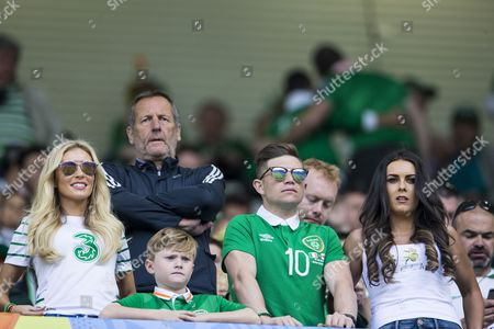 Claudine palmer, wife of Robbie Keane, in the stands during the UEFA European Championships 2016, Group E match between Belgium and Republic of Ireland played at Stade de Bordeaux, Bordeaux, France on June 18th 2016