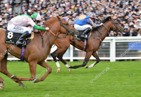 Churchill (Ryan Moore) wins The Chesham Stakes from (L) Isomer (Jamie Spencer) on Day 5 of The Royal Ascot meeting @ Ascot Racecourse, Berkshire, Great Britain on 18th June 2016.