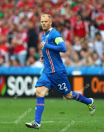 Eidur Gudjohnsen of Iceland   during the UEFA European Championships 2016 , group F match between Iceland and  Hungary    played at Stadium Velodrome  , Marseille , France on June 18th  2016