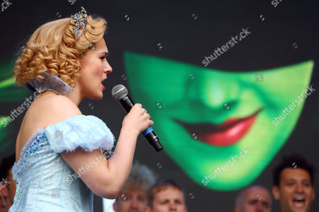 Savannah Stevenson performing in Wicked at West End Live in Trafalgar Square, London