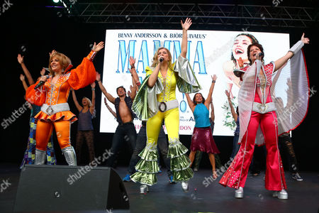 Mazz Murray, Jo Napthine and Sorelle Marsh performing in Mamma Mia at West End Live in Trafalgar Square, London