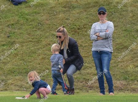 Zara Tindall, Mia Grace Tindall and son of polo player Malcolm Borwick