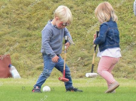 Mia Grace Tindall and son of polo player Malcolm Borwick