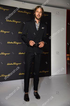 Editorial image of Salvatore Ferragamo, Milano Moda Uomo Men's Fashion Week, Spring Summer 2017, Milan, Italy - 19 Jun 2016