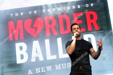 Ramin Karimloo performing in Murder Ballad at West End Live in Trafalgar Square, London