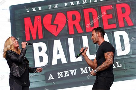 Kerry Ellis and Ramin Karimloo performing in Murder Ballad at West End Live in Trafalgar Square, London