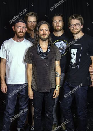 Tommy Putnam, Wes Bailey, Trevor Terndrup, Tyler Ritter and Spencer Thomson from Moon Taxi