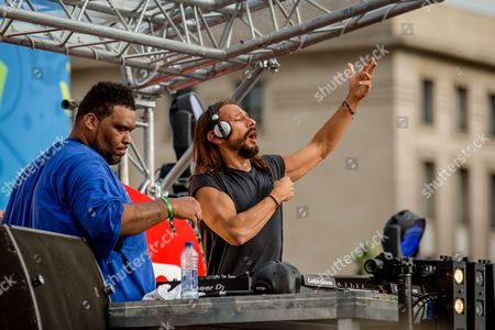 Free concert featuring Bob Sinclar with Big Ali in the Lyon fan zone on Bellecour square